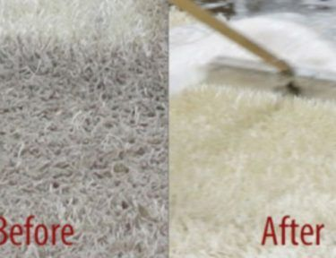 carpet cleaning side-by-side before and after
