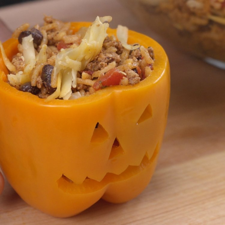 Stuffing pumpkin patch pepper