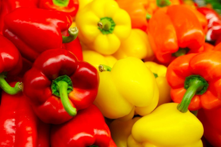 view of colorful bell peppers