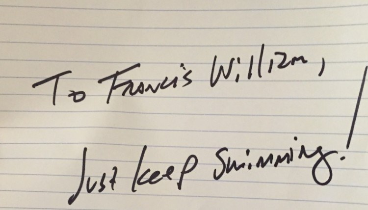 Note to Francis from Andrew Stanton.