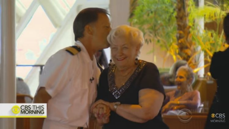88-year-old woman who lives on cruise ship.