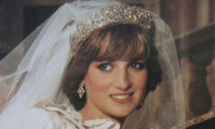 Princess Diana on her wedding day.