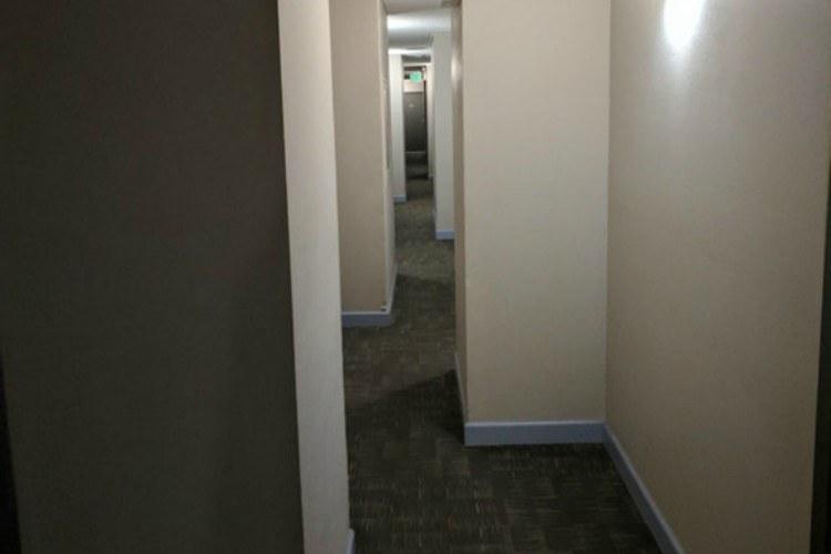 bent hallway