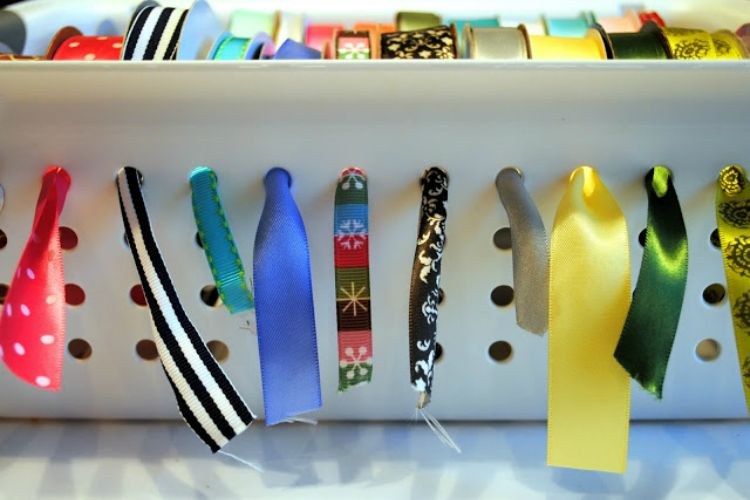 Ribbon Organizer Holes