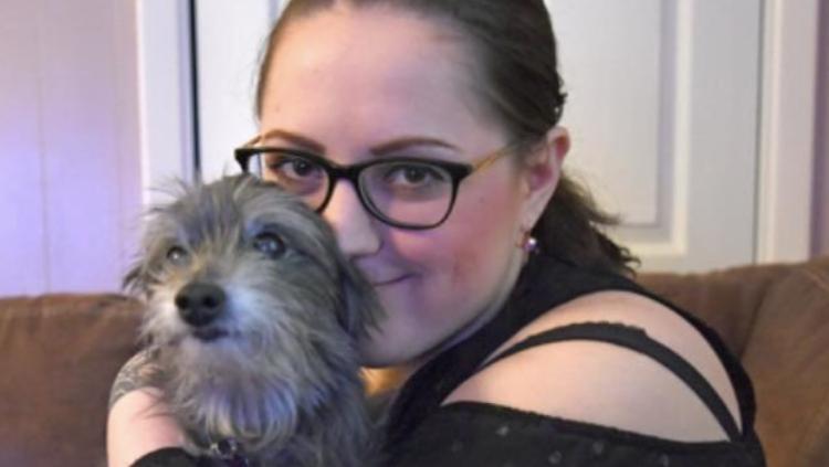Nicole Renae with dog
