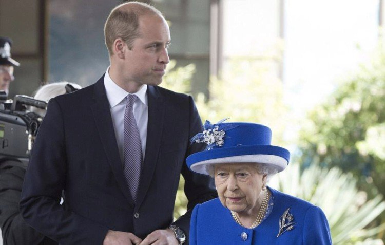 Image of Prince William and the Queen.