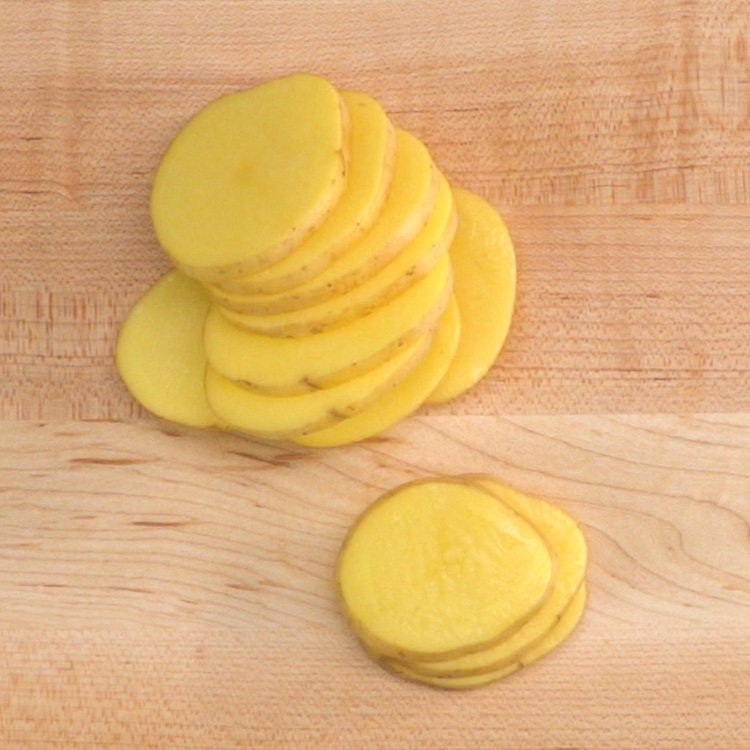 Scalloped Potatoes sliced
