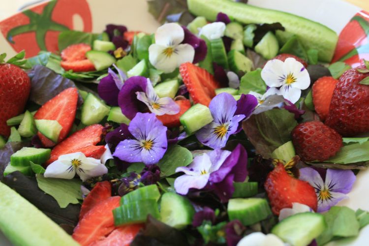 fruit salad edible flowers