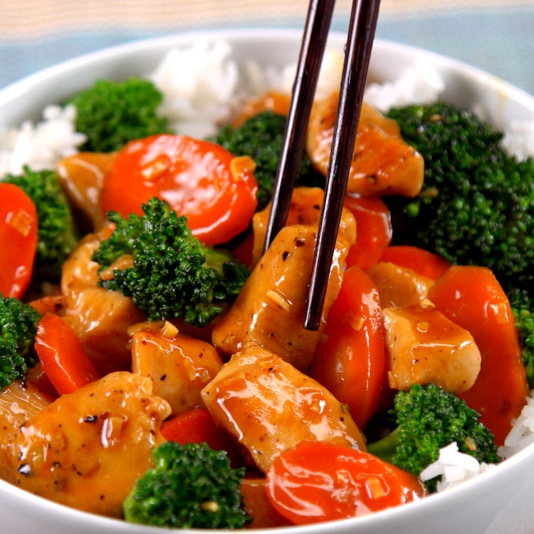 30-minute stir-fry with sizzling chicken & fresh veggies glazed in a sweet and savory Asian-inspired sauce. It's speedier, healthier, and tastier than takeout.
