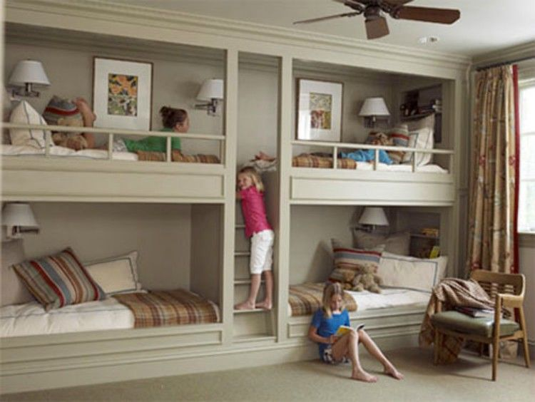 Bunk beds built into the wall.