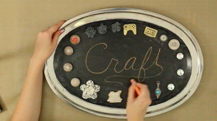 cookie tray chalkboard