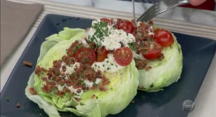 Finished product on your revamped wedge salad