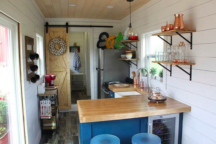 view of container home kitchen