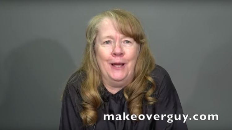 Image of woman before her makeover