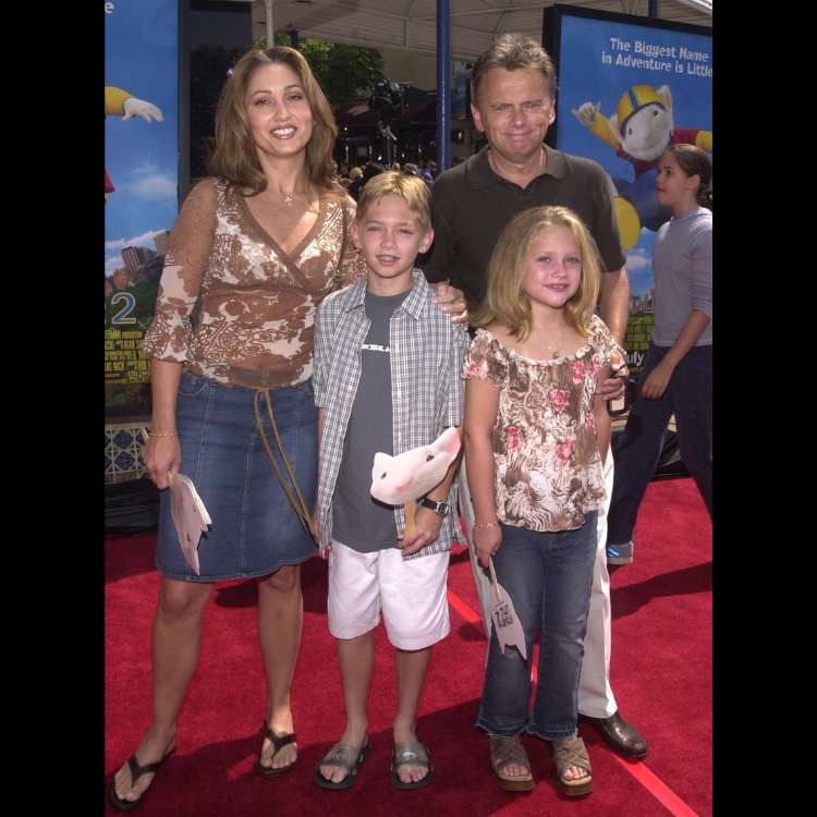 Pat Sajak, Lesly Brown, and children