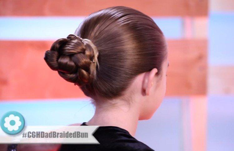 Girl with braided bun.