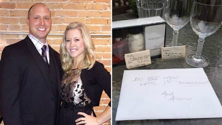 The couple that received a strange wedding gift.
