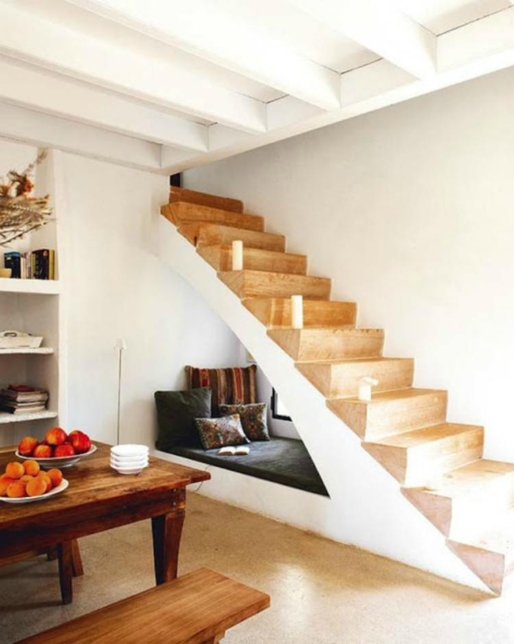 Under stair reading nook.
