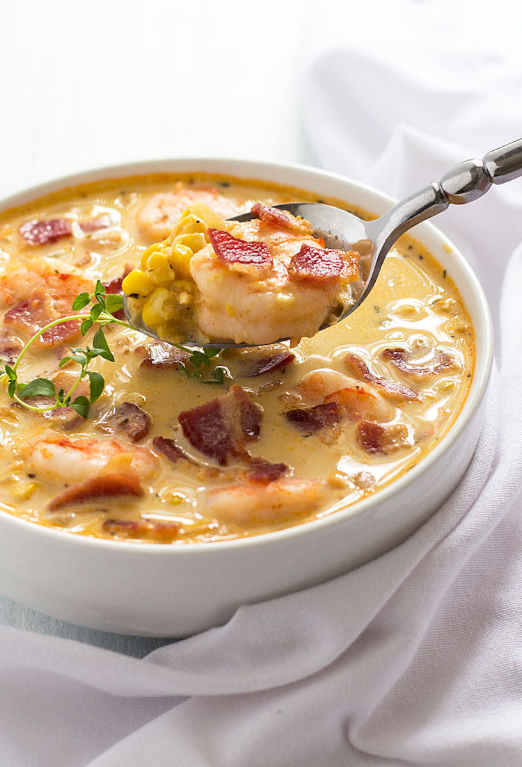bacon-shrimp-corn-chowder-the blond cook