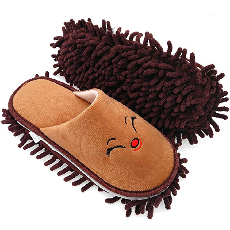 Image of cute cleaning slippers