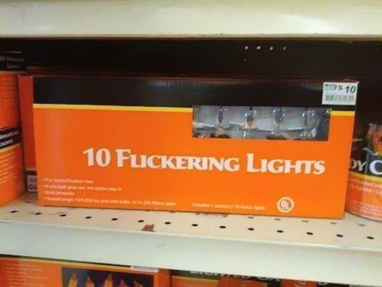 Flickering Christmas lights.