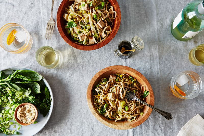 Cold Veggie and Noodle Salad