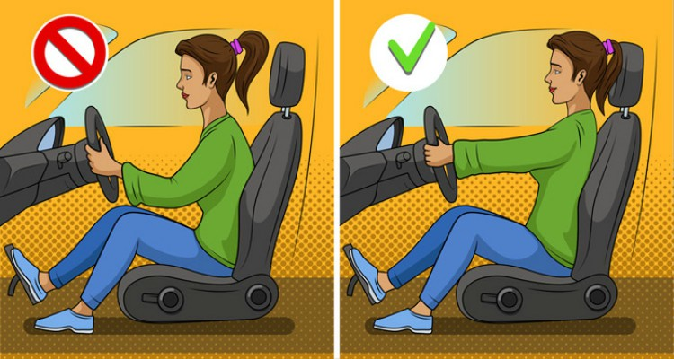 How to sit correctly in the car.