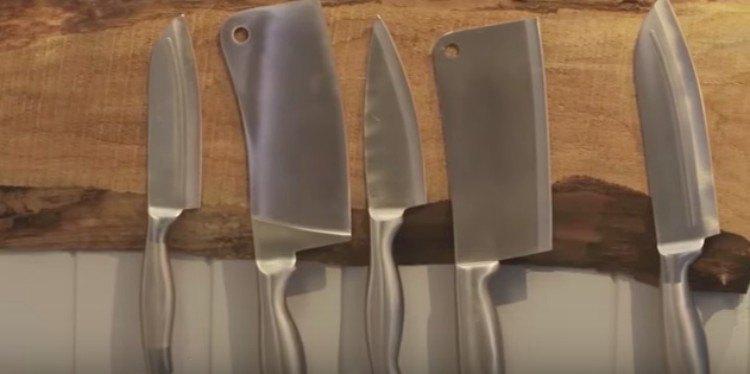 organizing hacks knife magnet board