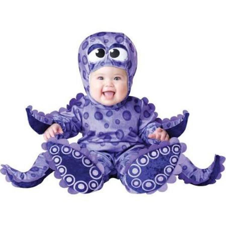 Baby in octopus costume