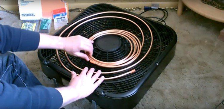Lay Copper Coil