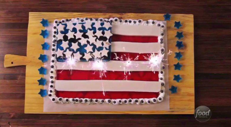 Gelatin Flag Cake