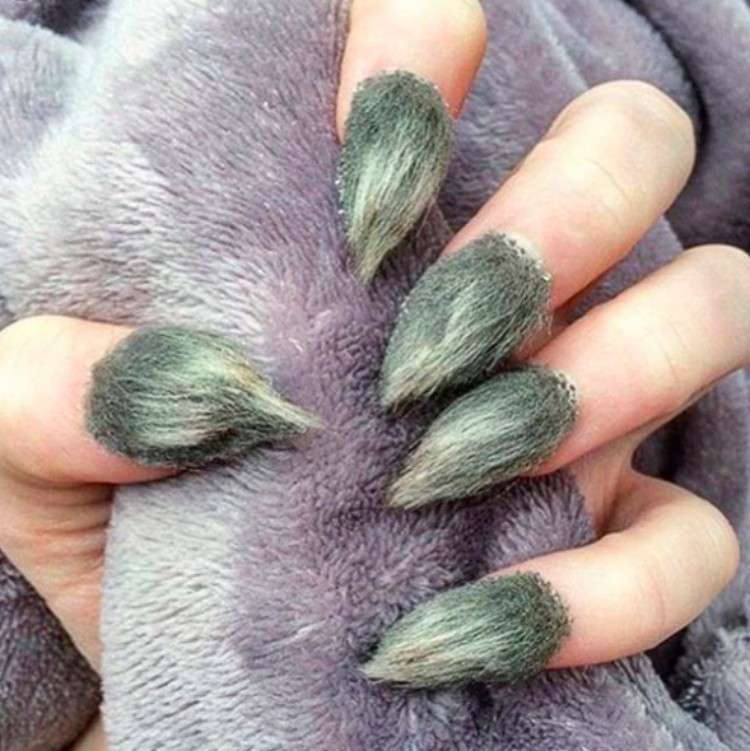 Image of hairy nail trend