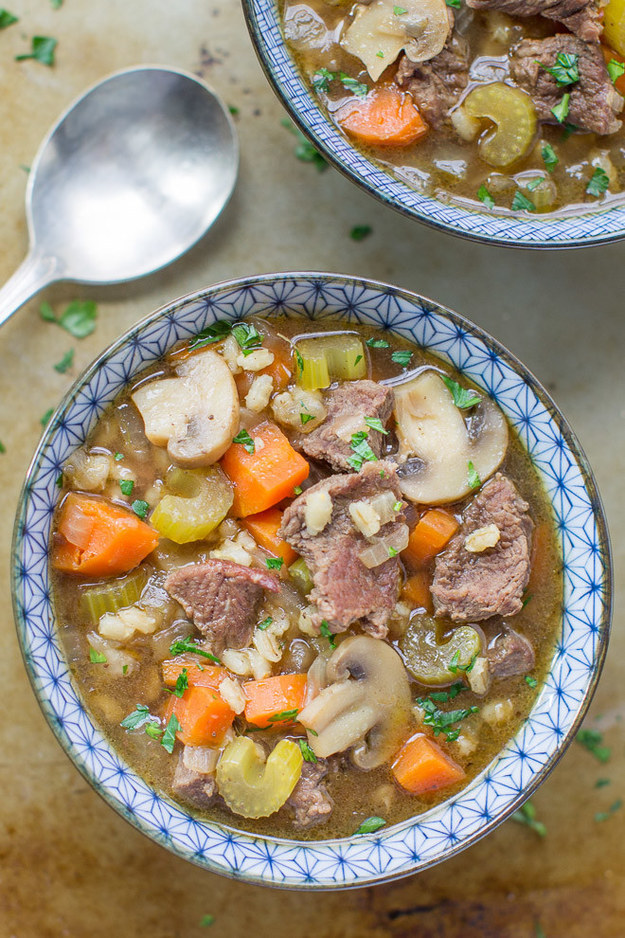 Beef and Barely Soup
