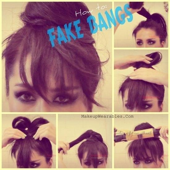 Fake Bangs
