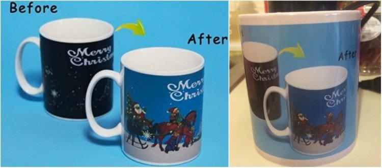 Changing Christmas mug.