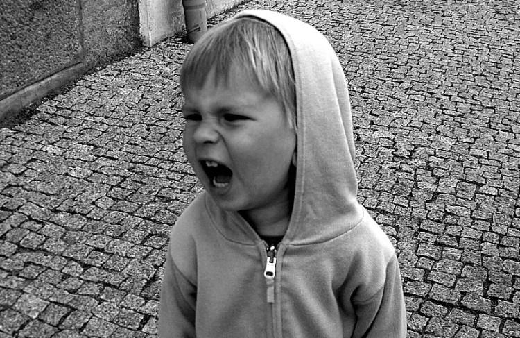 yelling little boy