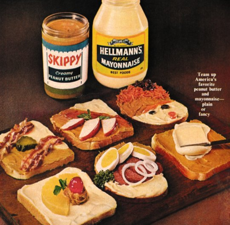 Image of a peanut butter and mayo ad