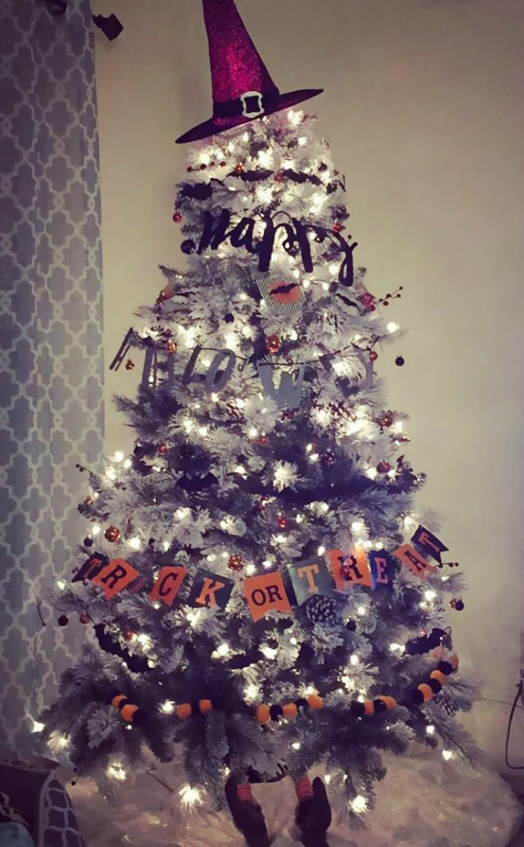 Image of Halloween Christmas tree