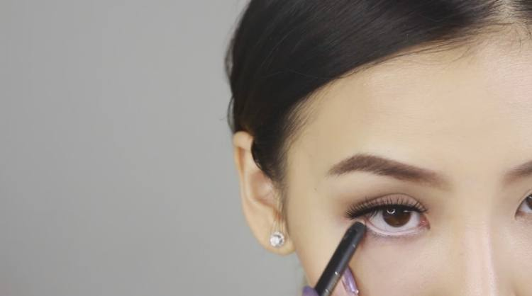 Use nude liner instead of white to brighten eyes