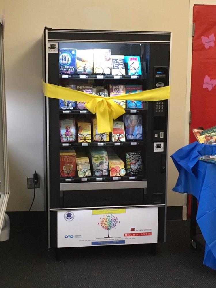 Image of book vending machine
