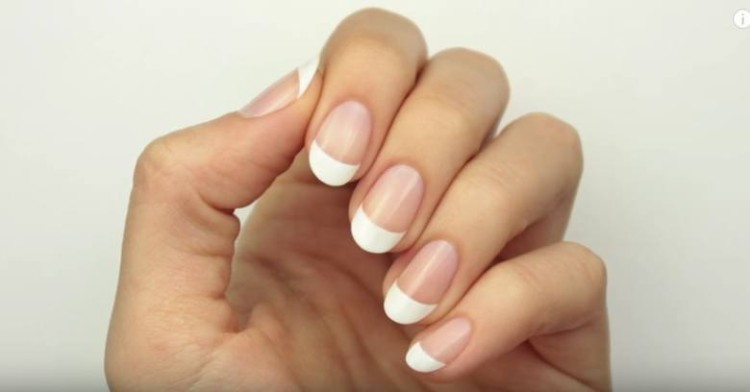 ShowingOffFrenchManicure
