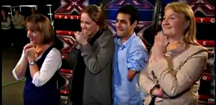 Family of X Factor contestant Emmanuel Kelly including Moira Kelly.