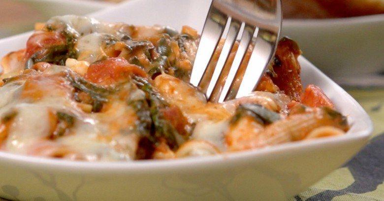 chicken tomato pasta bake FI