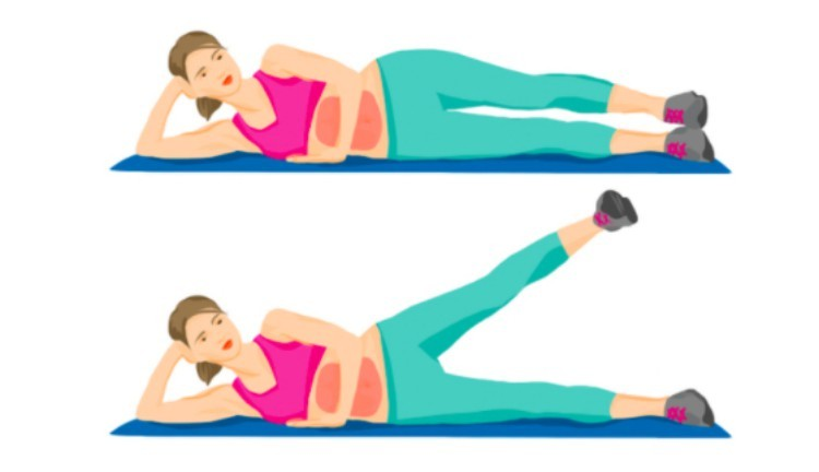 bed exercises legs