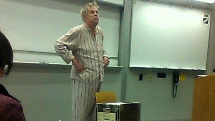 Professor in Pajamas