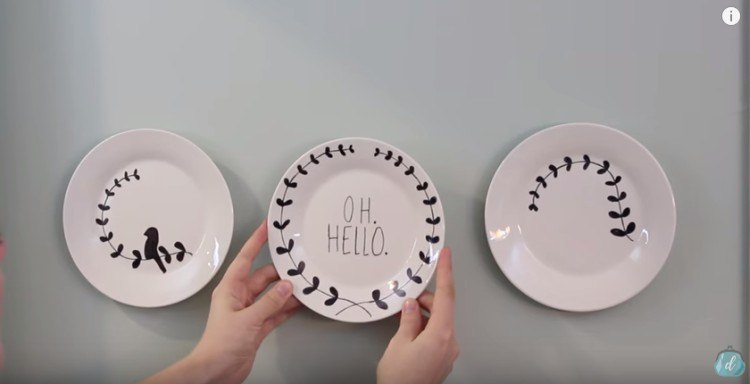 Make hanging plate art for cheap.