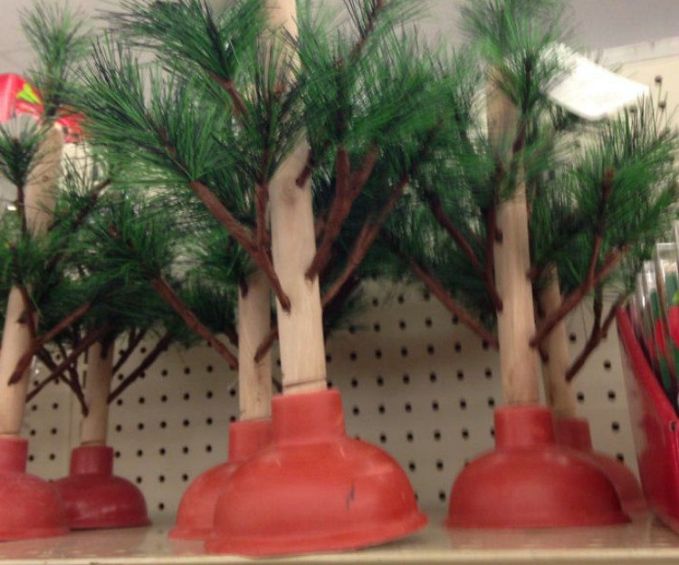 Christmas tree plunger.