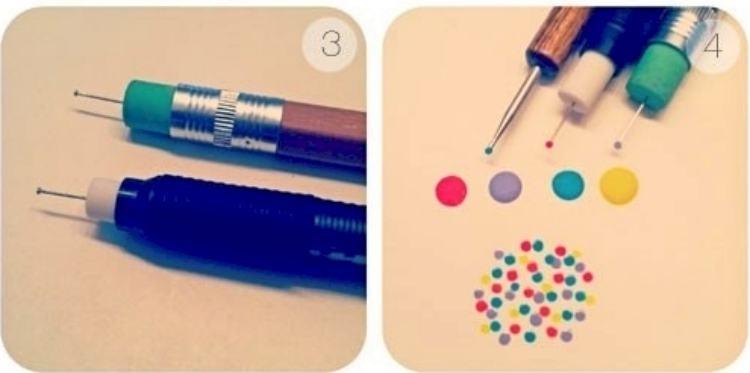 Make your own DIY nail polish dotting tool
