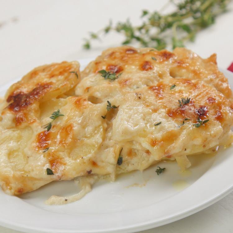 Scalloped Potatoes plated