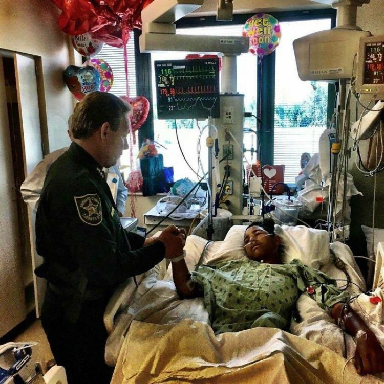 Image of Anthony Borges in hospital